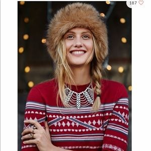 free people ✨ faux fur headband